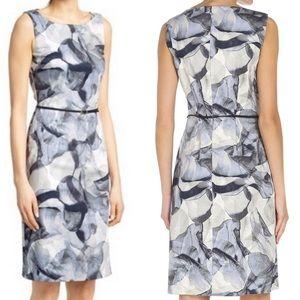 Hugo Boss Dinoma Floral Sleeveless Sheath Dress